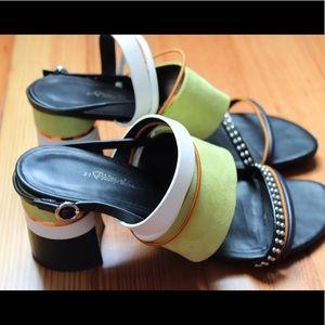 3.1 Phillip Lim strappy block heel leather sandals
